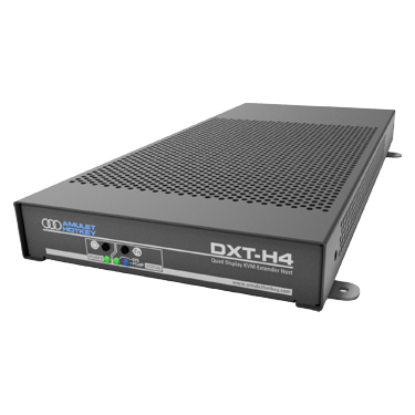 Front view of DXT-H4 quad display KVM host extender